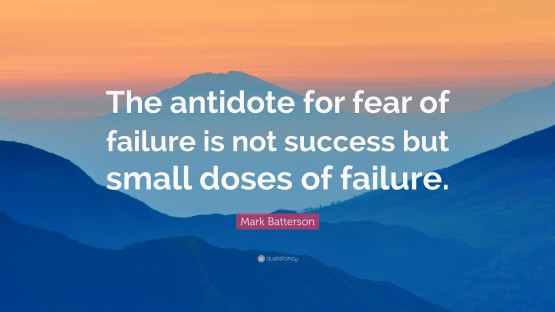 October's Here, Time to Deal with Fear of Failure!